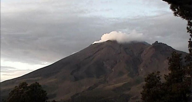 PC registra mínima actividad del Popocatépetl; tuvo 26 exhalaciones