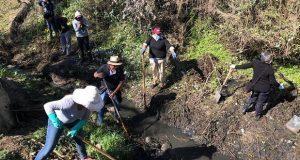 Realizan jornada de limpieza en inmediaciones del río Atenco