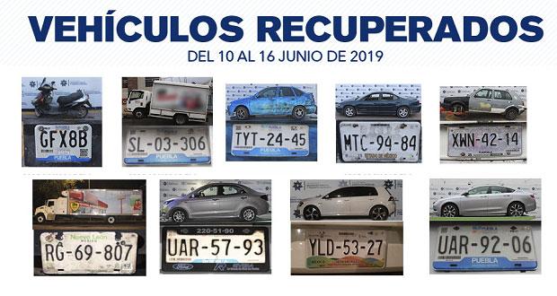 Recuperan 13 vehículos robados y aseguran 9 relacionados con delitos