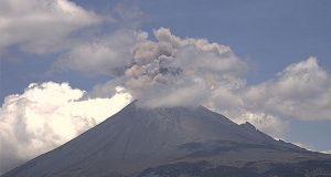 Registró el Popocatépetl explosión moderada, informa PC