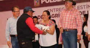 SGG y SDR entregan estímulos agrícolas a pueblos originarios