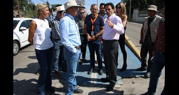 SIMT supervisa trabajos de Mi Puebla en bulevar Esteban de Antuñano