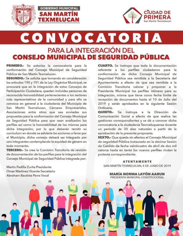 San Martín lanza convocatoria para consejo de seguridad pública