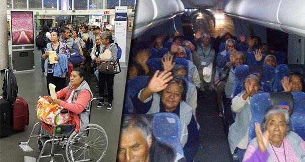 Se reúnen 91 adultos mayores con sus familiares en Nueva York