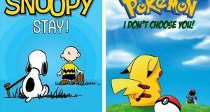 Con Snoopy y Pikachu, Ilustrador hace campaña contra abandono animal. Foto: Nicolas Amiard