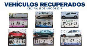 Recuperan 5 autos robados y un camión de remolque en Puebla capital