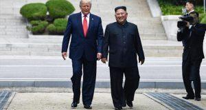 Trump, primer presidente de EU en pisar suelo de Corea del Norte