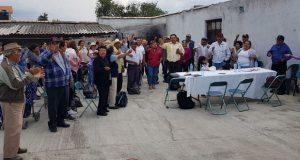 Se reúnen plenos antorchistas en Acajete
