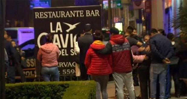 En CDMX, ataque armado a bar deja 2 muertos y causa huida masiva