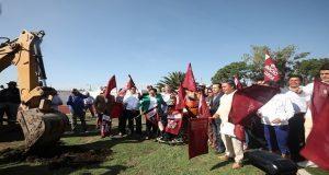 San Andrés Cholula invierte 9 mdp en cancha de fútbol y pista
