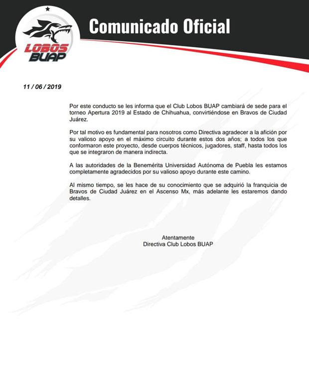 Oficializan mudanza de Lobos BUAP a Ciudad Juárez