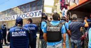 En La Acocota, decomisan posibles drogas, piratería y detienen a un hombre