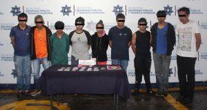 Detienen a 10 en Puebla capital por consumo y distribución de droga