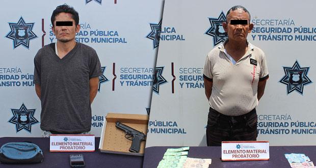 En un día, detienen a 3 por robo a transeúnte en Puebla capital