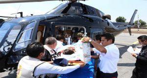 Helicópteros del gobierno estatal trasladan a 80 pacientes en cinco meses