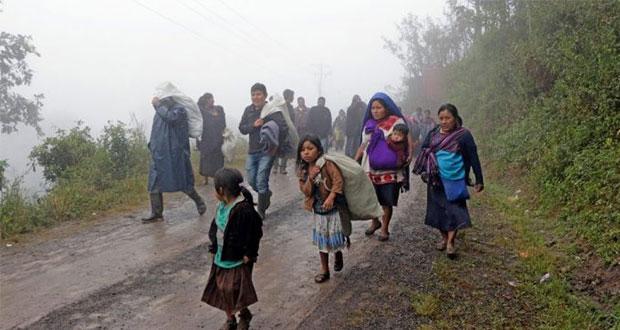 Indígenas, 45% de los desplazados por violencia en 2018: Cmdpdh