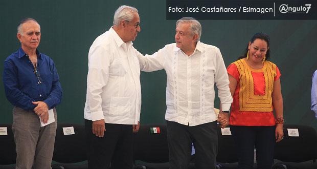 Proceso electoral de Puebla fue ejemplar, señala AMLO y felicita a Barbosa