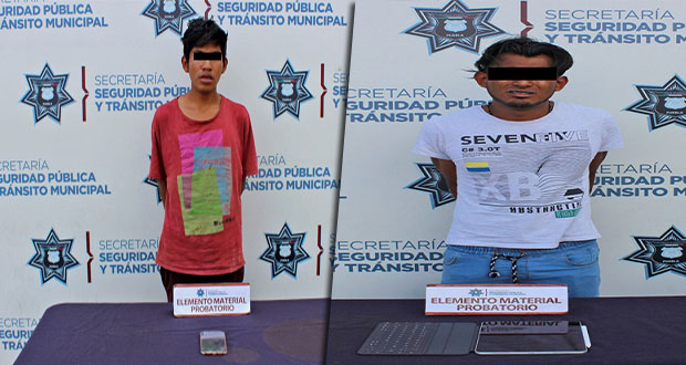 En hechos diferentes, Ssptm detienen a 2 por robo a transeúnte
