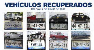 Policia de Puebla capital recupera 8 vehículos con reporte de robo