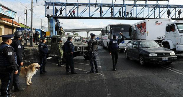 Ssptm garantiza seguridad de transporte público en Hueyotlipan