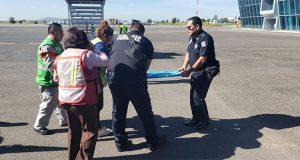 Aterriza de emergencia avión en Huejotzingo
