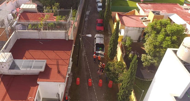 Ayuntamiento de San Andrés Cholula adoquina calle del Pozo