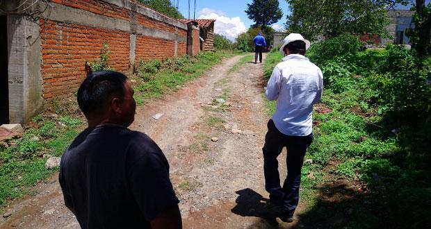 CFE recorre calles de Ocoyucan para realizar electrificación