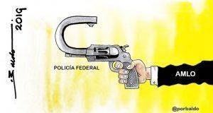 Caricatura: La Policía Federal se vuelve contra AMLO