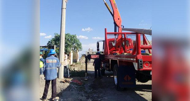 Colonia ubicada en Tehuacán contará con servicio de electricidad