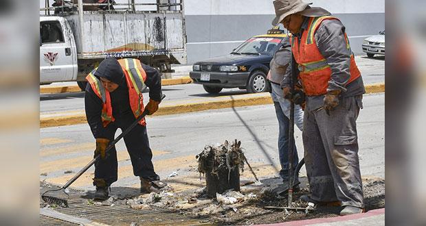PC de Cuautlancingo pide no tirar basura para evitar inundaciones