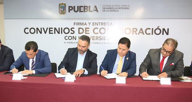 DIF firma convenios de colaboración con 75 ONGs y 43 universidades