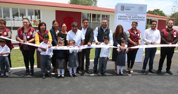 DIF inaugura CAIC en Cuapiaxtla de Madero