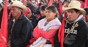 En Cuetzalan, piden agua potable, vivienda y caminos dignos
