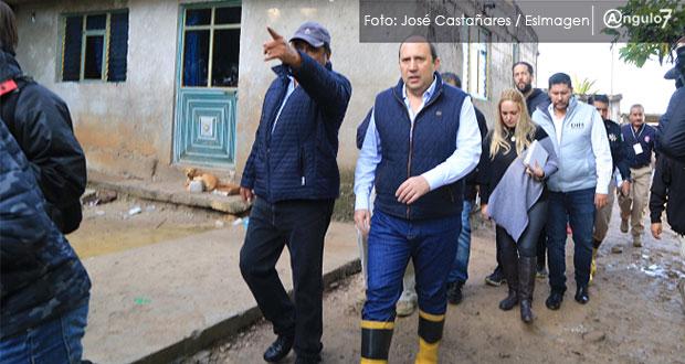 Tras deslave en Chautla se revisarán viviendas; habría 25 en riesgo: SGG
