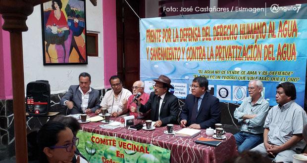 Biestro se compromete a legislar para evitar cortes de agua, aseguran ONGs