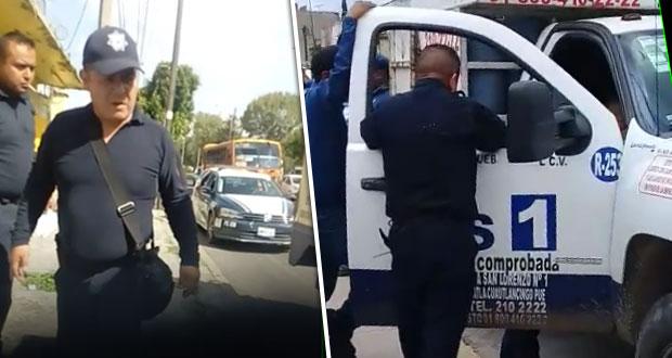 Gaseros acusan extorsión de policías estatales de Puebla. Foto: Especial