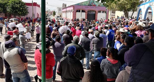 Habitantes de Tepeyahualco exigen renuncia de edil por corrupción