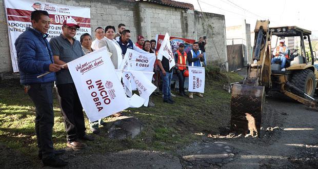 Inicia adoquinamiento en San Andrés Cholula con inversión de 1.2 mdp