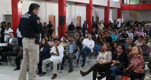 SSP escucha a colonos del sur de la ciudad de Puebla