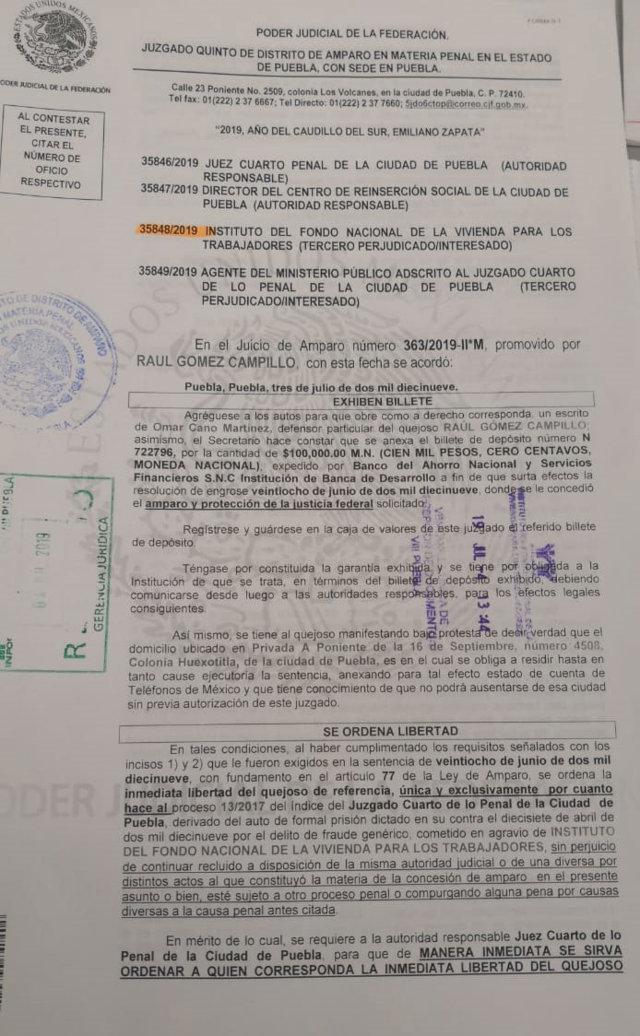 Obtiene libertad Raúl Gómez, exlíder de la Canadevi detenido por fraude