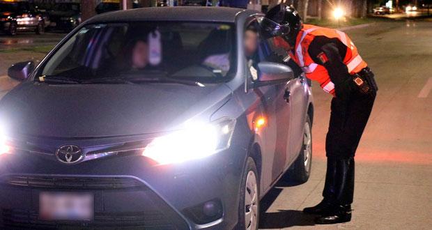 Sancionan a 35 personas en Operativo Alcoholímetro de Puebla