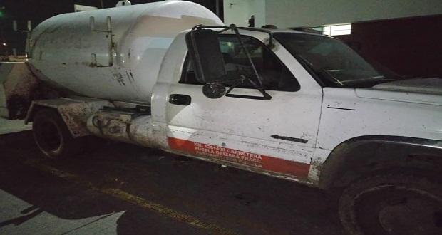 Aseguran en Cuautlancingo a dos con arma y recuperan 3 vehículos