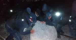 Policía Auxiliar frustra posible saqueo a tren en Cañada Morelos