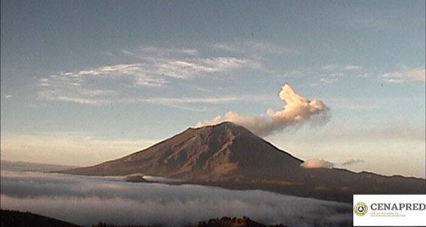 Popocatépetl emite seis explosiones, reporta Protección Civil