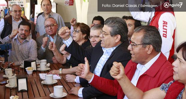 Priistas de Puebla perdonan a traidores y llaman a votar por Moreno