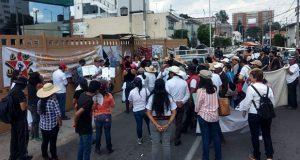 Protestan en delegación de Semarnat y exigen no dar MIA a proyecto minero