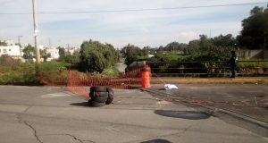 Puente en Lomas de San Miguel, a punto de derrumbarse, reportan