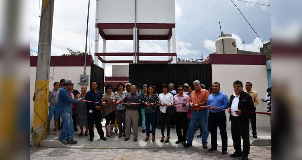 Rehabilitan tanque de almacenamiento en localidad de Cuautlancingo
