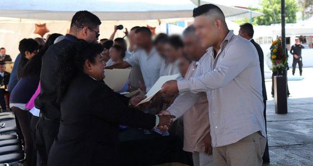 SSP entrega 421 certificados a reos que concluyeron sus estudios