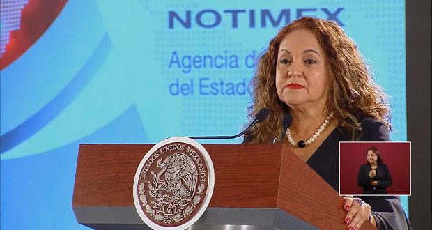 "Notimex estaba secuestrada por ""mafia sindical"": Sanjuana Martínez"